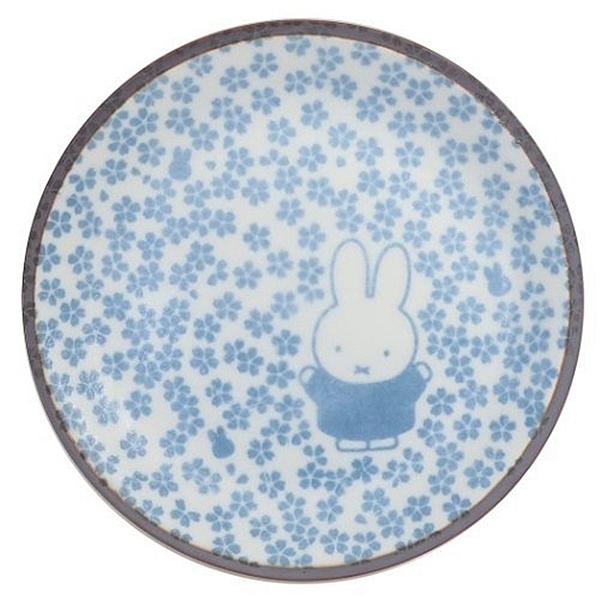 又敗家@日本製造金正陶器美濃燒和小紋小碟子小皿212163米菲兔Miffy(瓷製;直徑12cm)小白兔餐盤