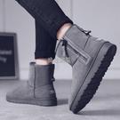 冬季雪地靴情侶東北棉鞋男加絨保暖加厚防滑防寒馬丁高幫面包棉靴快速出貨