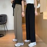 西裝褲女 褲子女2020年秋季新款高腰顯瘦垂感黑色休閒褲女款直筒西裝闊腿褲