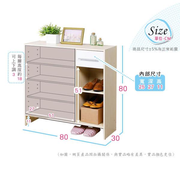 鞋櫃《YoStyle》日式二門一抽鞋櫃(二色可選) 收納櫃 櫥櫃 有門櫃 玄關櫃 置物櫃 展示櫃