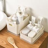 帶蓋收納筐小號零食雜物衣服整理箱衣柜收納盒家用廚房整理儲物盒