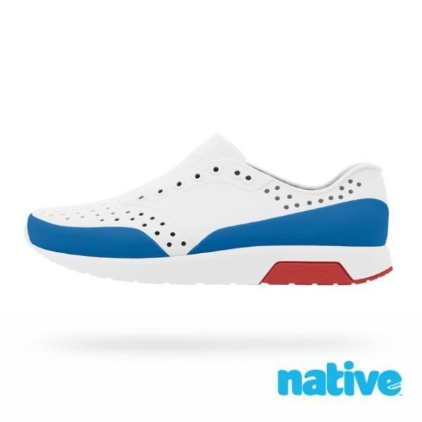 【南紡購物中心】【native】LENNOX BLOCK 男/女鞋(白x藍x紅)