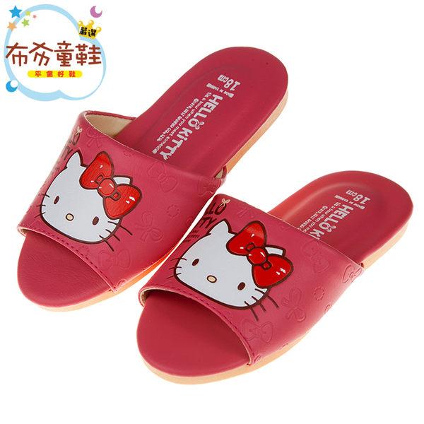 《布布童鞋》HelloKitty凱蒂貓粉色蝴蝶結兒童室內拖鞋(18~25公分) [ Y7Q686G ]