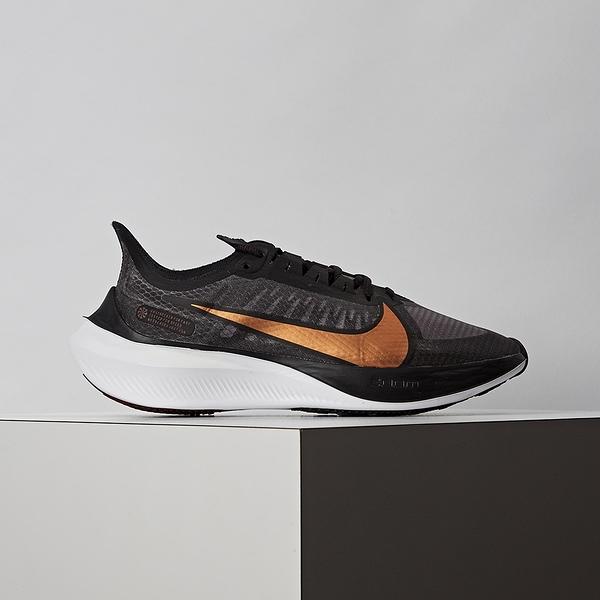 Nike Wmns Zoom Gravity 女鞋 黑金 半透明鞋面 慢跑鞋 BQ3203-004