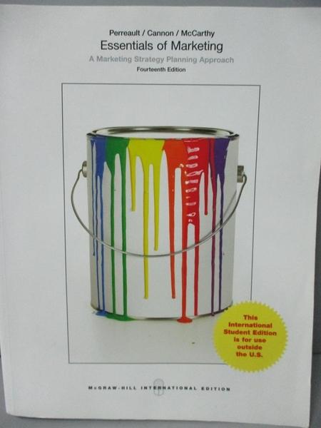 【書寶二手書T7/大學商學_ZBJ】Essentials of Marketing-A Marketing Strate