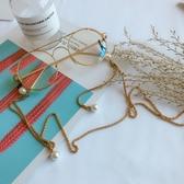 珍珠複古金屬眼鏡鏈條挂脖帶防滑挂繩墨鏡鏈子