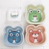 2個嬰兒小號盆子兒童洗臉盆洗澡塑料盆家用大碼號卡通洗腳洗衣盆