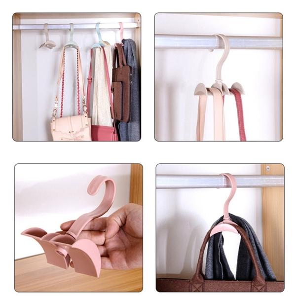 【DN375】可旋轉包包掛勾 收納掛架 領帶 皮帶 絲巾 掛架 掛包器