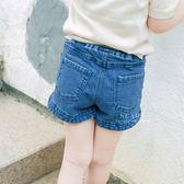中性簡約刷白丹寧短褲 童裝 短褲 牛仔褲