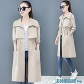 風衣外套 風衣大衣女2021秋裝新款韓版寬松英倫風流行中長款小個子春秋外套 快速出貨