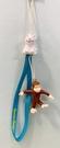 【震撼精品百貨】Curious George _好奇的喬治猴 ~日本喬治猴 手機吊飾/鑰匙圈-兔子#00055