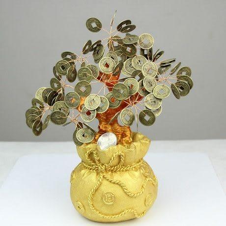 【中】正品開光 銅錢招財樹