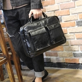 男士公文包2019新款皮質商務包手提包單肩斜挎包韓版潮流背包