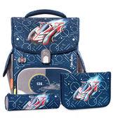 TigerFamily小學者超輕量護脊書包+文具袋+鉛筆盒--音速賽車