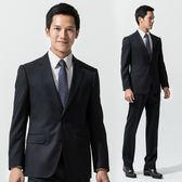 極品西服 摩登優雅條紋仿毛西裝外套_深藍(AS538-3G)
