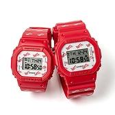 CASIO 卡西歐 限量天使與惡魔 情人對錶-紅 LOV-20B-4