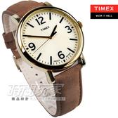 TIMEX天美時 經典時刻 數字皮帶錶  咖啡色 金電鍍 冷光面板 男錶 公司貨 T2P527 時間玩家