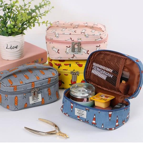 化妝包 手提立體旅行化妝包 防水 化妝品     【FMD087】-收納女王
