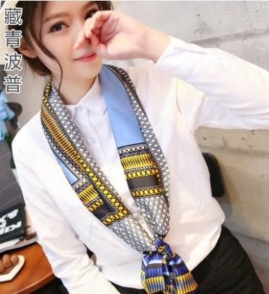 [協貿國際]  春秋絲巾小領巾長條夏季領帶巾 (1入)