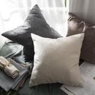 亞麻抱枕靠墊客廳沙發靠枕女簡約靠背大腰枕定制床頭抱枕套不含芯Mandyc