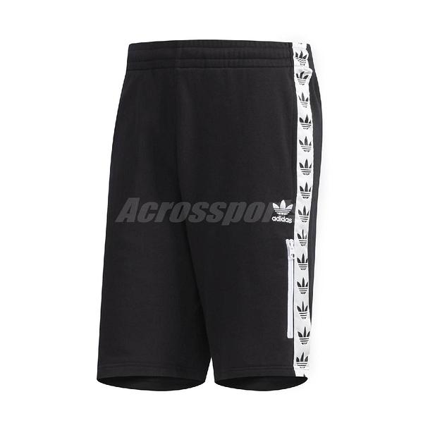 adidas 短褲 Original Shorts Trefoil 運動休閒 黑 白 男款 三葉草 串標 【ACS】 DX4230