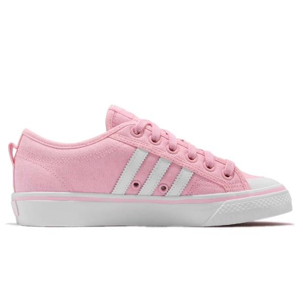 adidas 休閒鞋 Nizza W 粉紅 白 帆布鞋面 基本款 女鞋 運動鞋【ACS】 CQ2539