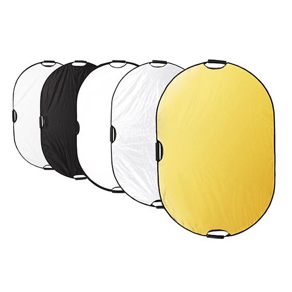 橢圓形反光板80*120cm補光板五合一柔光板便攜折疊手提攝影拍照手機直播手持影樓家用 一木良品