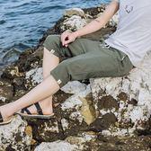 休閒褲夏天棉麻短褲男士中褲薄款運動褲亞麻七分褲寬鬆7分褲休閒沙灘褲 魔方數碼館