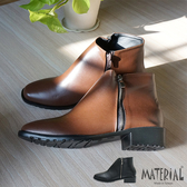 短靴 小方頭側拉鍊短靴 MA女鞋 T6189