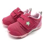 《7+1童鞋》小童 日本月星 MOONSTAR 透氣網布 機能鞋 運動鞋 學步鞋 C497 桃色
