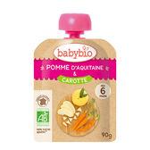 綠動會 法國BABYBIO 有機蘋果胡蘿蔔纖果泥隨行包(90g)【佳兒園婦幼館】