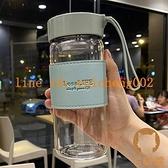 大容量耐高溫防爆玻璃杯便攜手提帶茶隔隨手水杯【宅貓醬】