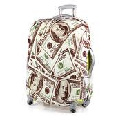 PUSH! 旅遊用品SHOW ME MONEY行李箱拉桿箱登機箱彈力保護套防塵套箱套拖運套28寸S12-2