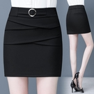 半身裙女春秋2021新款高腰顯瘦包臀一步裙氣質減齡防走光休閒短裙【快速出貨】