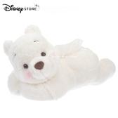 (現貨&實拍)日本 DISNEY STORE迪士尼商店限定 小熊維尼 雪白維尼版 White Pooh 趴姿 玩偶衛生紙盒套