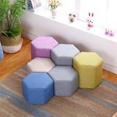 布藝小凳子時尚板凳沙發凳創意成人懶人換鞋方凳客廳家用茶幾餐凳WY