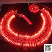 新年用品 開業慶典過年新年春節裝飾炮竹彩燈紅光鞭炮串燈電子鞭炮燈串 玫瑰女孩