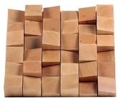 葡萄牙 Vicoustic Multifuser Wood 36 二度空間擴散板 實木 淺褐色 NRC 0.35 595 x 595 x 75 mm