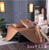 涼席床藤席三件套天然純藤雙面1.8米冰絲單人學生宿舍 DR17688【Rose中大尺碼】