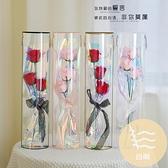 鮮花盒半圓形透明鮮花手提花禮盒玫瑰花花束包裝材料【白嶼家居】