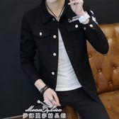 薄款牛仔夾克男士韓版修身型青少年春裝衣服潮男裝外套男 「夢娜麗莎精品館」