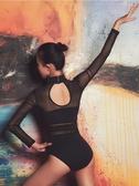 成人舞蹈服女基訓芭蕾舞練功服學生藝考形體體操服空中瑜伽連體衣