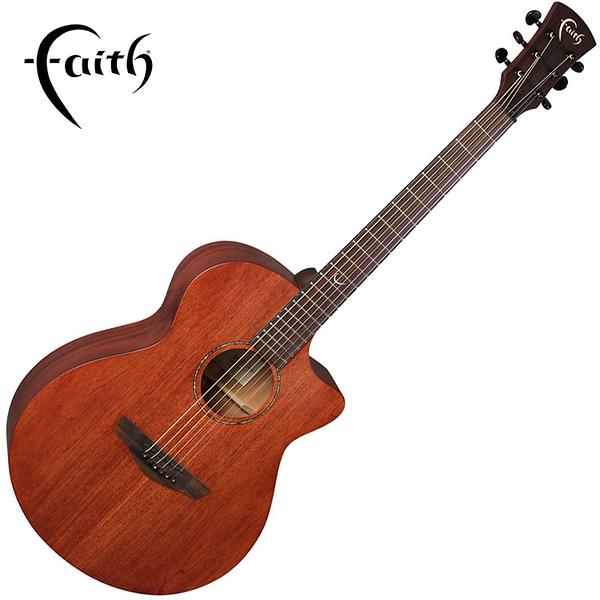Faith FKVMG-NPX 全單板桃花心木 40吋民謠吉他-缺角造型/ 英國名品/ 附原廠琴袋