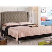 皮床 布床架 MK-655-5 多娜達6尺雙人床(駝色皮) (不含床墊及床上用品)【大眾家居舘】