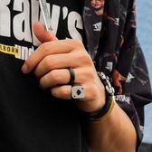 戒指卡門拉個性情侶對戒撲克牌男士女潮配飾【聚寶屋】