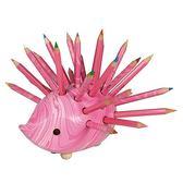 捷克製KOH-I-NOR 24色油性色鉛筆(手工製造刺蝟型24支組)*粉紅色紋身