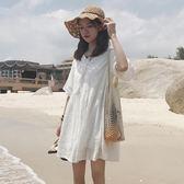 夏季女裝韓版中長款氣質甜美小清新仙女裙短袖顯瘦連衣裙學生裙子『新佰數位屋』