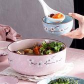 日式陶瓷大湯碗湯盆家用拉面碗大號
