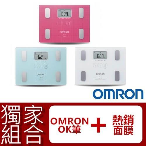 HBF-216+熱銷面膜乙片+歐姆龍ok筆 OMRON體脂計 最新(HBF-212升級版) 白/紅/藍【醫妝世家】