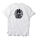 找到自己 MD 韓國 時尚休閒 潮 男 鈴蘭字印花 個性T恤 短袖T恤 特色短T 字母T